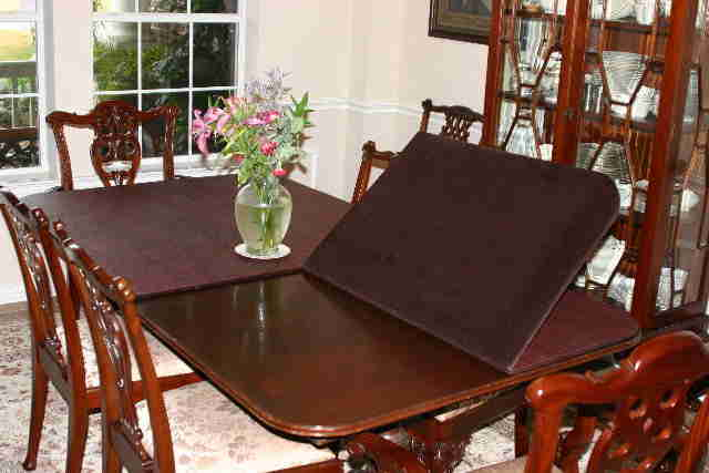 protective pads for dining room table | Money Back Guarantee | Dressler Table Pad Co. Inc | Table ...